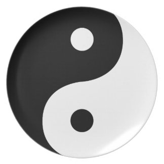 Yin And Yang Sides Plate