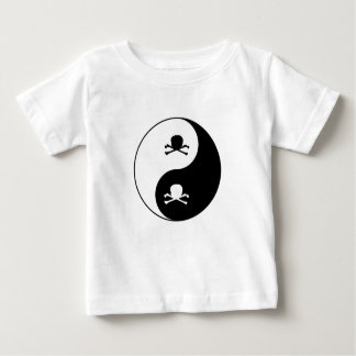 Yin and yang skulls baby T-Shirt