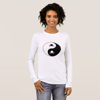 Yin and yang skulls long sleeve T-Shirt