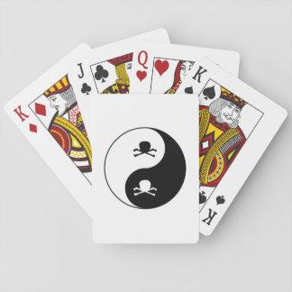 Yin and yang skulls playing cards