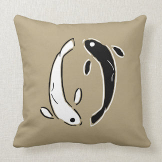 Yin and Yang Swimming Koi Fish Cushion