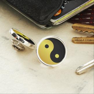 Yin and Yang symbol | Gold asian philosophy zen Lapel Pin