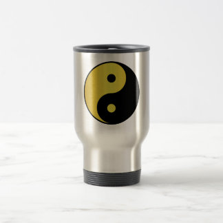 Yin and Yang symbol | Gold asian philosophy zen Travel Mug
