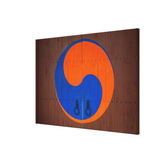 Yin and Yang symbol, South Korea Canvas Print