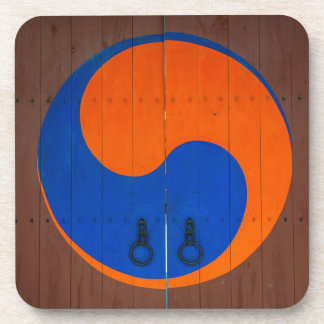 Yin and Yang symbol, South Korea Drink Coaster
