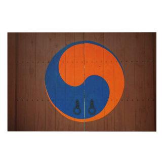 Yin and Yang symbol, South Korea Wood Wall Art