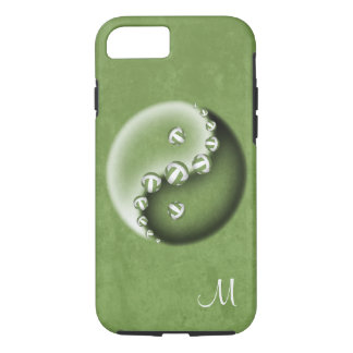 Yin and yang volleyball grunge texture w monogram iPhone 8/7 case
