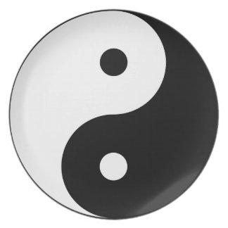 Yin and yang (yin-yang, yin yang, 陰陽). plate