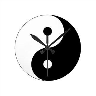 Yin and yang (yin-yang, yin yang, 陰陽). round clock