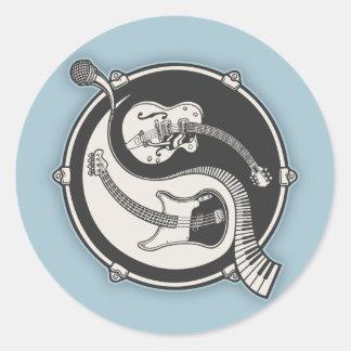 Yin Band Classic Round Sticker