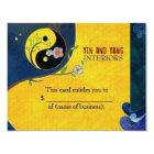 Yin n Yang Business Gift Certificates Card