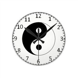 Yin-Yang; 陰陽 Round Clock