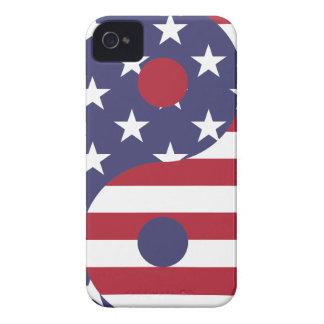 Yin Yang American Flag iPhone 4 Cover