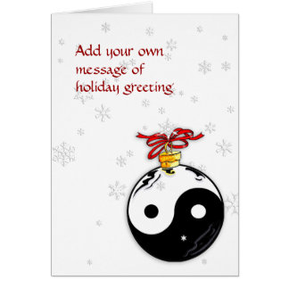 Yin & Yang and Snowflakes Card