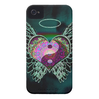 Yin Yang, Angel Wings, Halo iPhone 4 Case