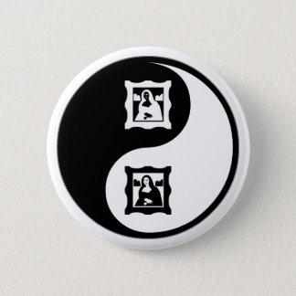 Yin Yang Art History 6 Cm Round Badge