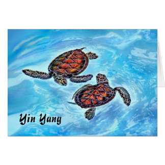 Yin Yang Baby Sea Turtles Card