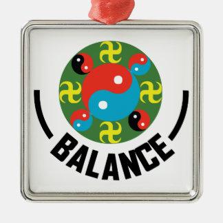 Yin Yang Balance Metal Ornament