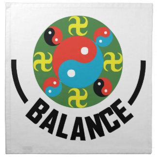 Yin Yang Balance Napkin