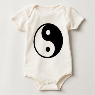 yin yang Basic Line Baby Bodysuit