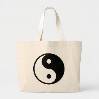 yin yang Basic Line Large Tote Bag