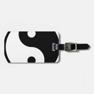 yin yang Basic Line Luggage Tag