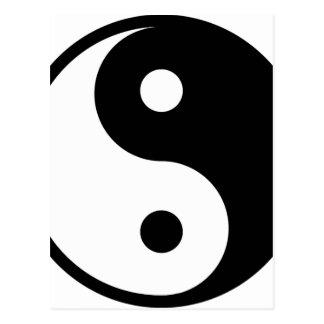 yin yang Basic Line Postcard