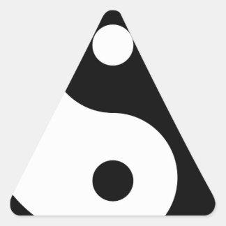 yin yang Basic Line Triangle Sticker