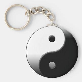Yin Yang Basic Round Button Key Ring
