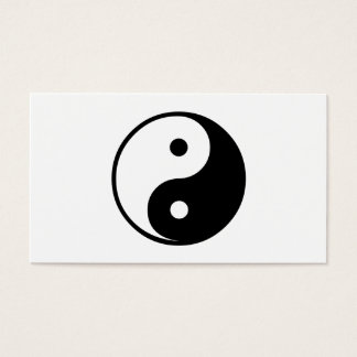 Yin Yang Black and White Illustration Template Business Card