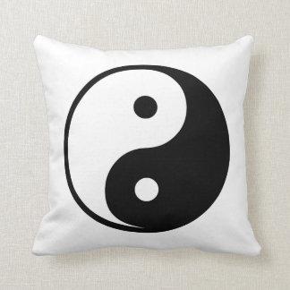 Yin Yang Black and White IllustrationTemplate Cushion