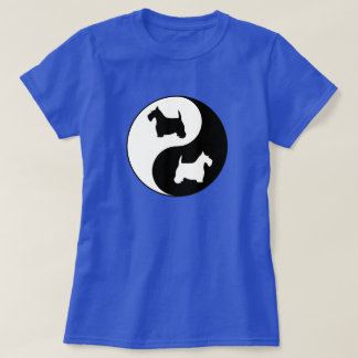 Yin & Yang Black and White Scotties T-Shirt