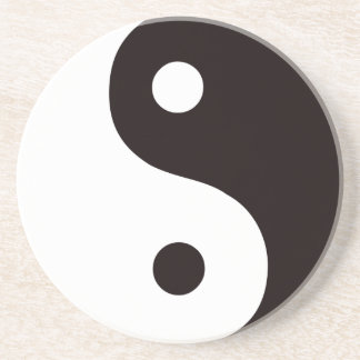 Yin-Yang-Black/White Coaster