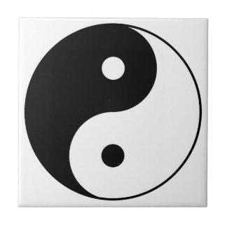 yin yang black white symbol ceramic tile