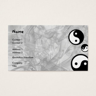 Yin Yang Business Card
