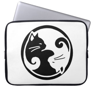 """Yin Yang Cats 15"""" Laptop Sleeve"""