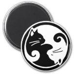 Yin Yang Cats 6 Cm Round Magnet