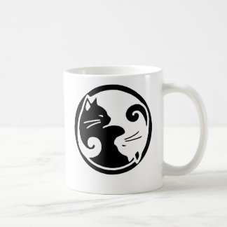 Yin Yang Cats Basic White Mug