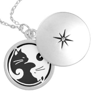 Yin Yang Cats Locket