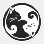 Yin Yang Cats Stickers
