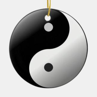 Yin Yang Ceramic Ornament