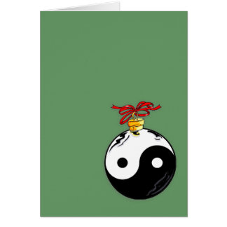 Yin & Yang Christmas Ball Card