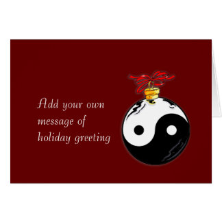 Yin & Yang Christmas Ornament Card