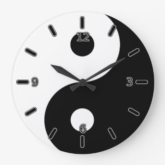 Yin Yang Clock (With Numbers)
