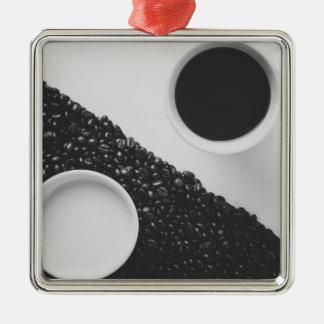Yin Yang coffe Metal Ornament