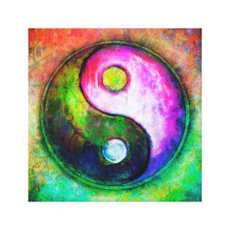 Yin Yang - Colorful Painting I Canvas Print