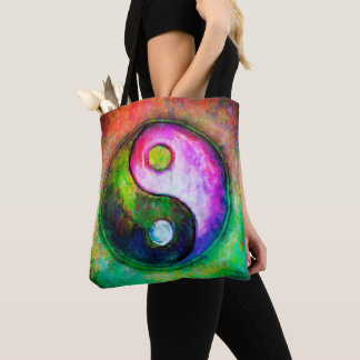 Yin Yang - Colorful Painting I Tote Bag
