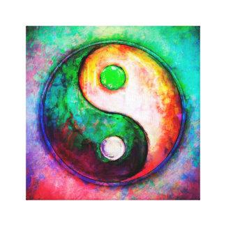 Yin Yang - Colorful Painting II Canvas Print