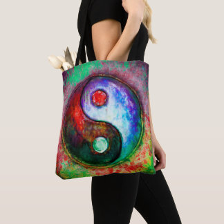 Yin Yang - Colorful Painting III Tote Bag