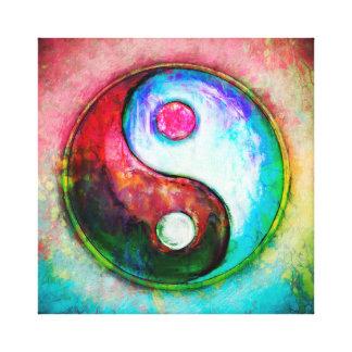Yin Yang - Colorful Painting IV Canvas Print